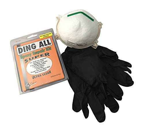 The Ding All Super Epoxy Surfboard Repair Kit is perfect for the backyard repair job that you are about to tackle. Easy to use so you can fix your board and get back in the water. Now it's even better with the addition of 2 pairs of heavy duty black nitrile glove and a N95 respirator for...