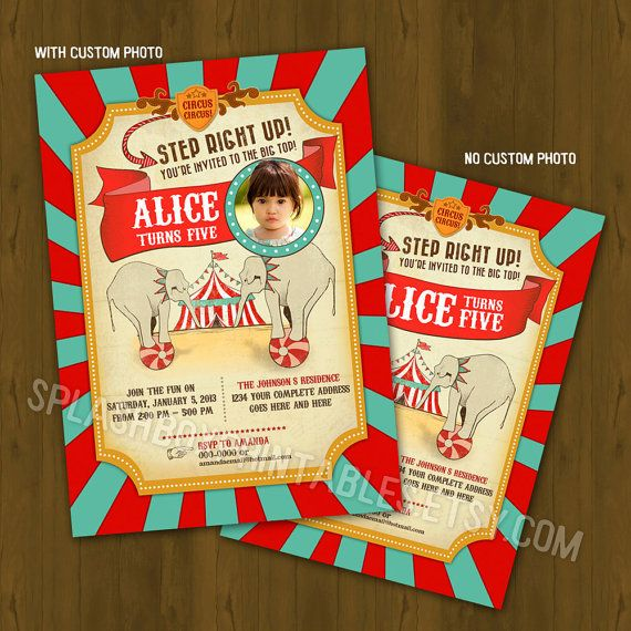 Best 25+ Circus birthday invitations ideas on Pinterest   Circus ...