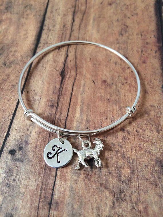 Goat Charm Bracelet Goat Bracelet Silver Goat By