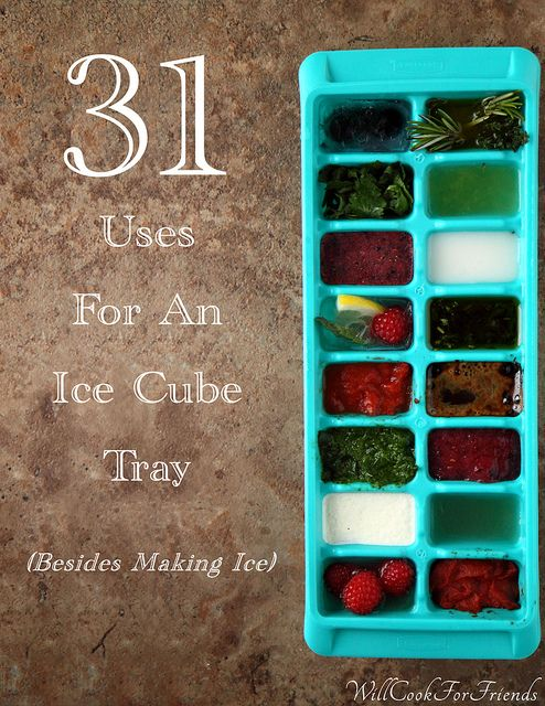 31 Uses For An Ice Cube Tray (other than making ice) by WillCookForFriends