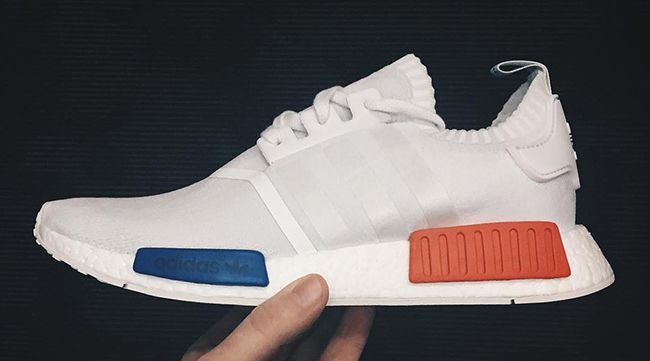adidas NMD White Blue Red