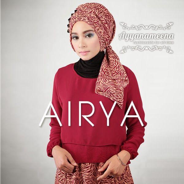 Ayyanameena Airya: Ayyanameena Airya Maroon  #motif #chiffon #sifon #ayyanameena #airya #dress #moslem #hijab #jilbab #fashion #women