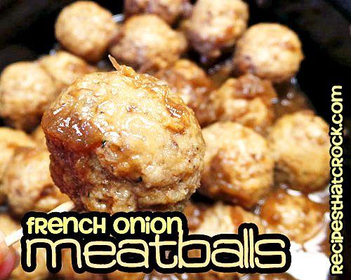 French Onion Meatballs Recipe on Yummly. @yummly #recipe