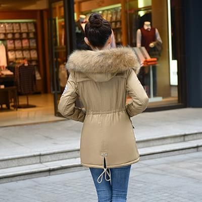 Winter Jacket Women Faux Fur Coat With Hood Winter Jacket Thicken Solid Female Military Long Parka #abrigos Plus Size
