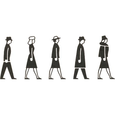 human shapes from Gerd Arntz Web Archive