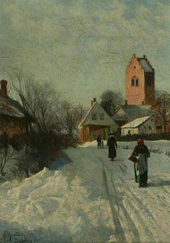 Peder Mørk Mønsted (1859-1941): Juledag (Christmas Day)
