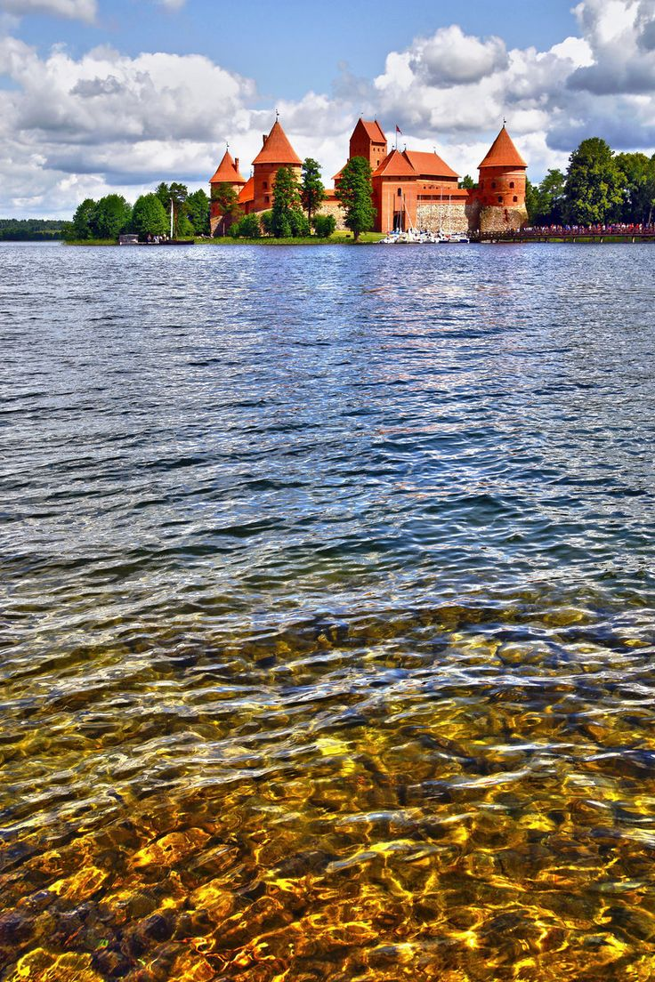 trakai, lake galve, lithuania. i was unaware lithuania was so awesome.