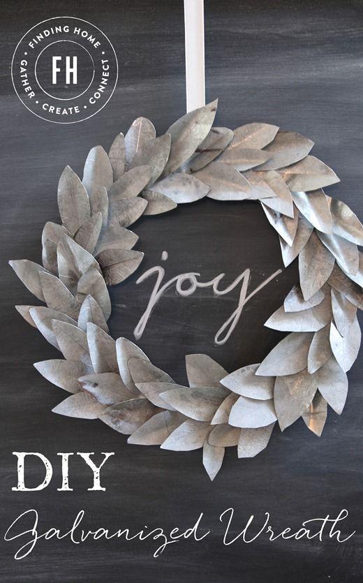 DIYGalvanized ChristmasWreath #christmasdecor