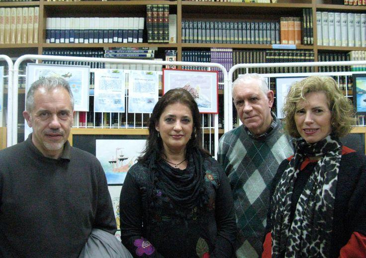 """En el CEPA Cáceres, exposición de obras plásticas en torno a lecturas que tienen como tema central o protagonista""""el mar"""". Alumnos y profesores de la CEPA y el Al-Qazeres."""