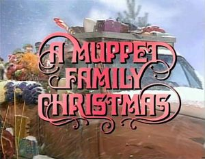 A Muppet Family Christmas title card. (1989 version)