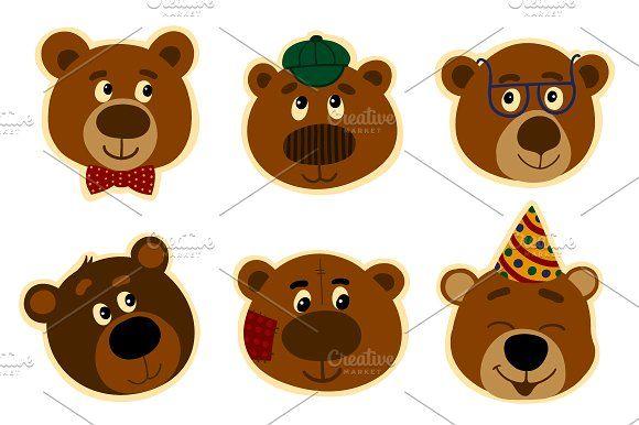 Promotional Stickers teddy bear. by Samira on @creativemarket