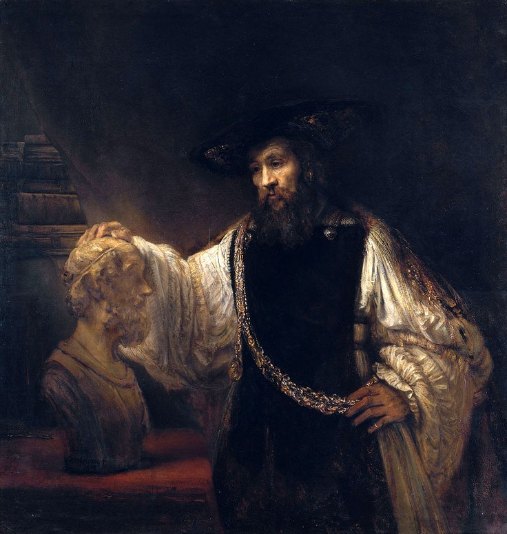 Rembrandt(1606–1669)  Aristotle with a Bust of Homer, 1653  Metropolitan Museum, New York  #2h