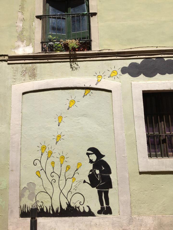 Street Art in Barri de Gracia, Barcelona, Spain.