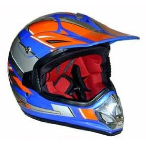 Youth Kids DOT Approved Motorcross ATV Dirt Bike Helmet Blue Medium