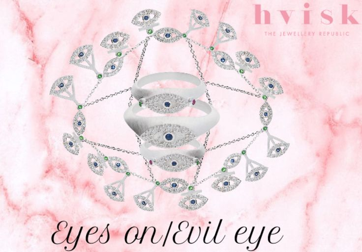 Eyes om Evil Eye jewelrys. #hviskevileye #hvisk