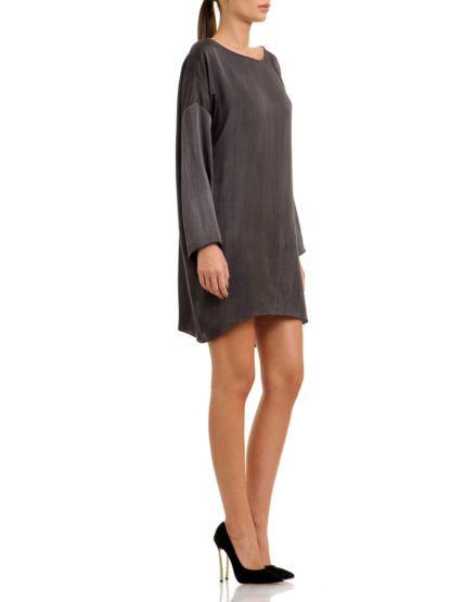 Shades Of Grey Loose Dress #ShadesOfGrey #LooseDress #SILK