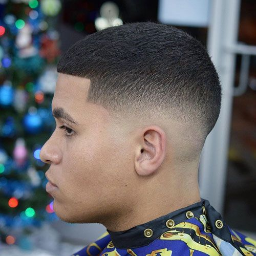 Buzz Cut with Low Skin Fade