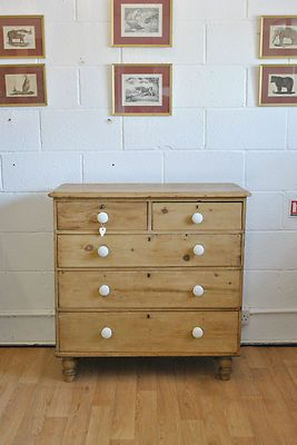 Antique Victorian Pine Chest Of Drawers | eBay | £299