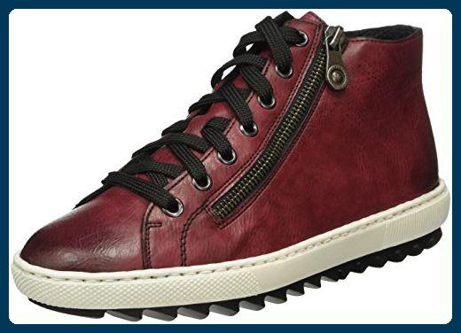 Rieker Damen M8431 High-Top, Rot (Wine / 35), 40 EU - Sneakers für frauen (*Partner-Link)
