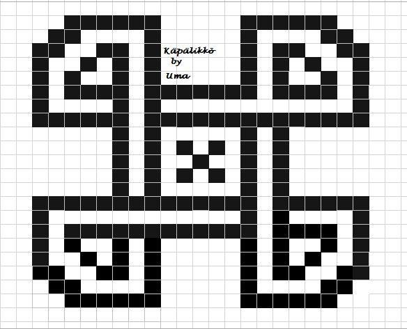Käpälikkö knittign chart neule