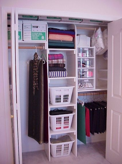 I have finally finished my craft closet makeover! Both the closet and room I use for sewing and crafts. Unfortunately the room also has to be used as a spare guest room for when company comes. So there's a big queen bed in there too. I own a custom closet closet company and occasionally design craft areas for my clients. I have also.