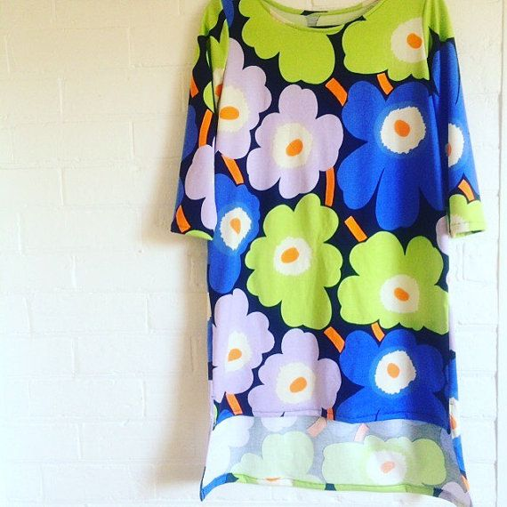 Marimekko Dress tunic Unniko Jersey Fabric by karlacola on Etsy