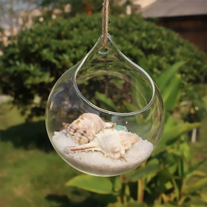 spécification: matériel: verre borosilicate résistant à la chaleur diamètre: env. 10cm forme: forme de boule color: transparent il a bien la stabilité thermique; la température peut être le degré -20 à 150 degrés Emballage inclus: 1 x suspendu
