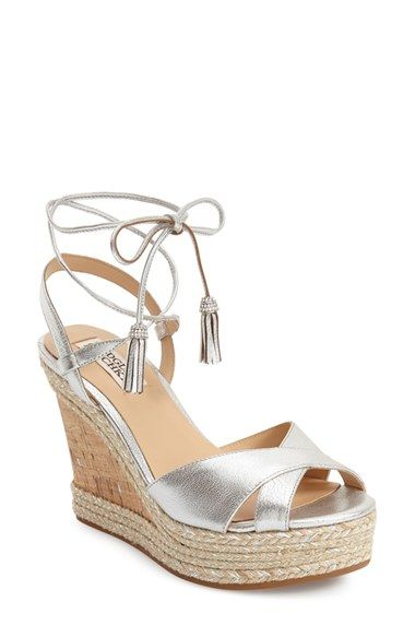 BADGLEY MISCHKA 'Cece' Platform Wedge Sandal (Women). #badgleymischka #shoes #sandals