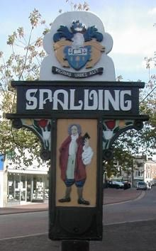 Old Spalding Town sign