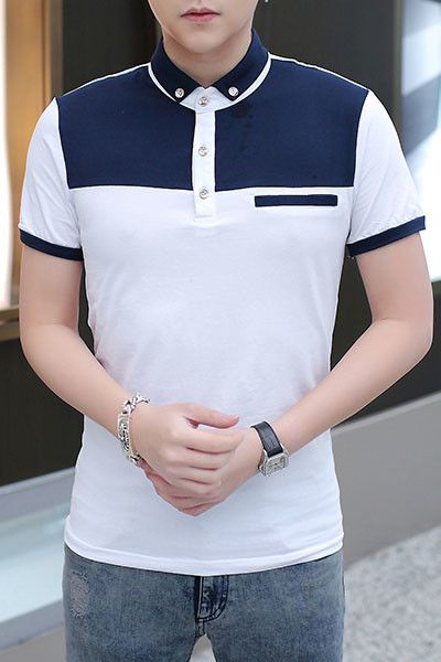 When colored in double blocking tones, then topped with decorative buttons and our outstanding design of short sleeves with contrast ribbed trim.