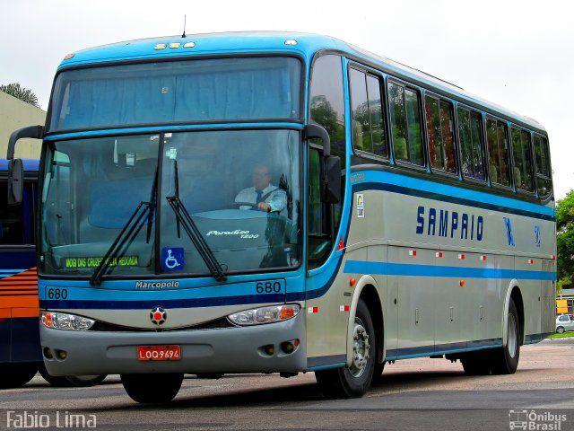 Ônibus da empresa Viação Sampaio, carro 680, carroceria Marcopolo Paradiso G6 1200, chassi Mercedes-Benz O-400RSE. Foto na cidade de Mogi das Cruzes-SP por Fabio Lima, publicada em 04/11/2012 17:46:31.
