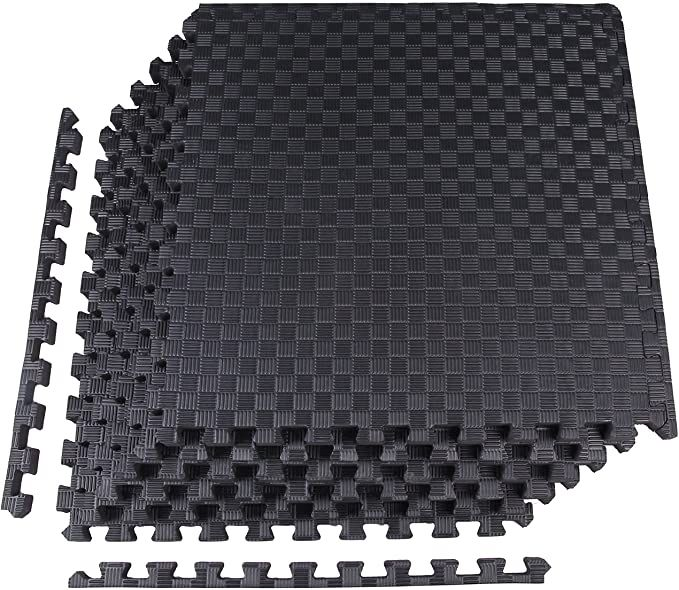 Amazon Com Balancefrom 1 Extra Thick Puzzle Exercise Mat With Eva Foam Interlocking Tiles For M In 2020 Mat Exercises Interlocking Tile Everyday Essentials Products