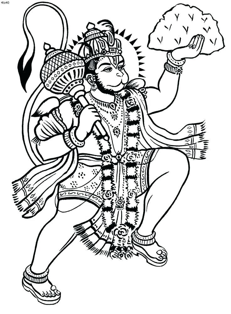 Hindu Gods Coloring Pages Coloring Book And Coloring Book Also