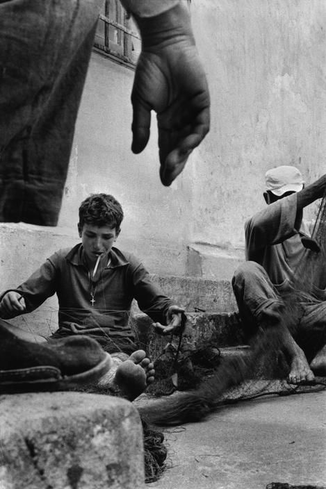 Sergio Larrain Sicily. Ustica, penal island, 9 km out to sea, reached by a boat which makes four trips per week, to carry both tourists, inhabitants and prisoners.