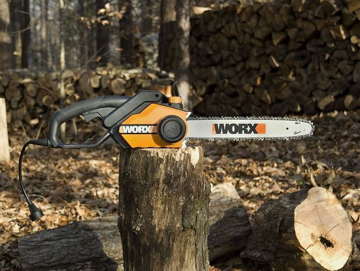 New 16in 14.5 Amp Electric Chainsaw w/Auto-Lub Oil Chain Bar Trees Wood Firewood #WORX