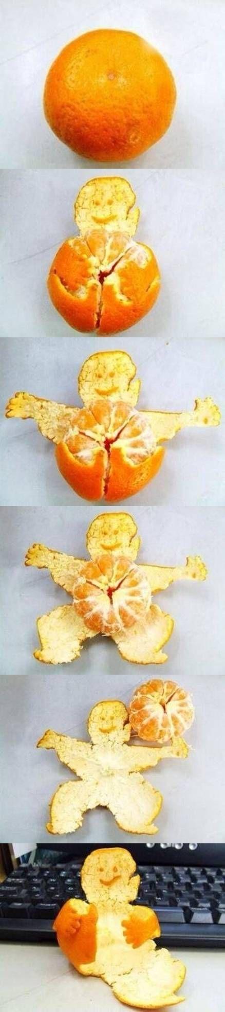 DIY Cool Way of Peeling a Tangerine