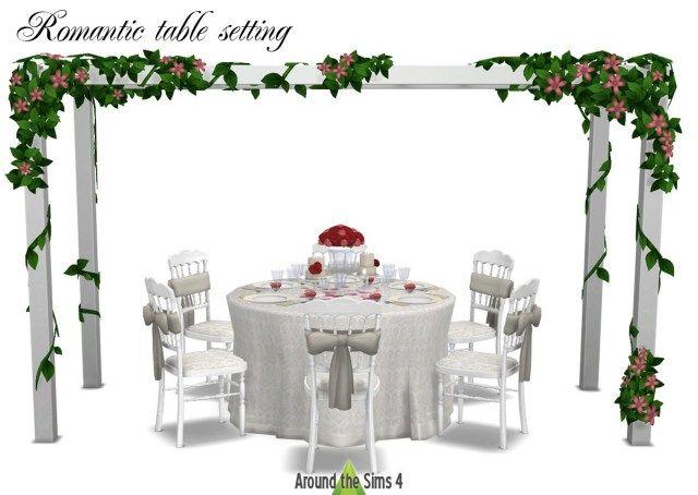 Marvelous Picture Of Used Wedding Decor Regiosfera Com Around The Sims 4 Used Wedding Decor Romantic Table Setting