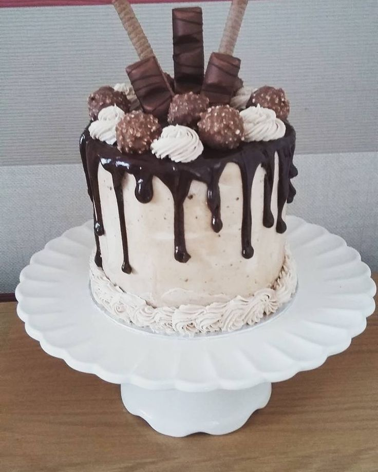 Tolle Kuchen Chocolate And Hazelnut Drip Cake. Chocolate Sponge With A