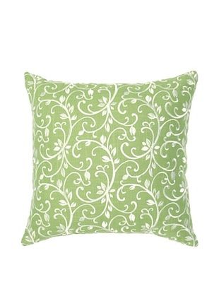 Image By Charlie Taylor Embroidered Decorative Pillow, Seamist Green/White, 17