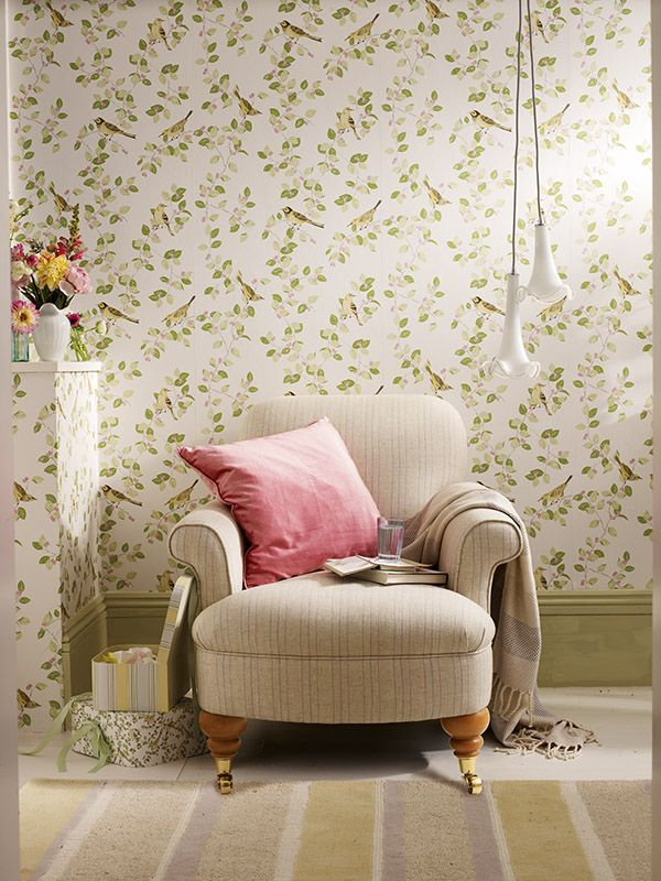 Aviary Garden Apple From The Laura Ashley Wallpaper Collection So Pretty New Fresh Look IdeasBedroom