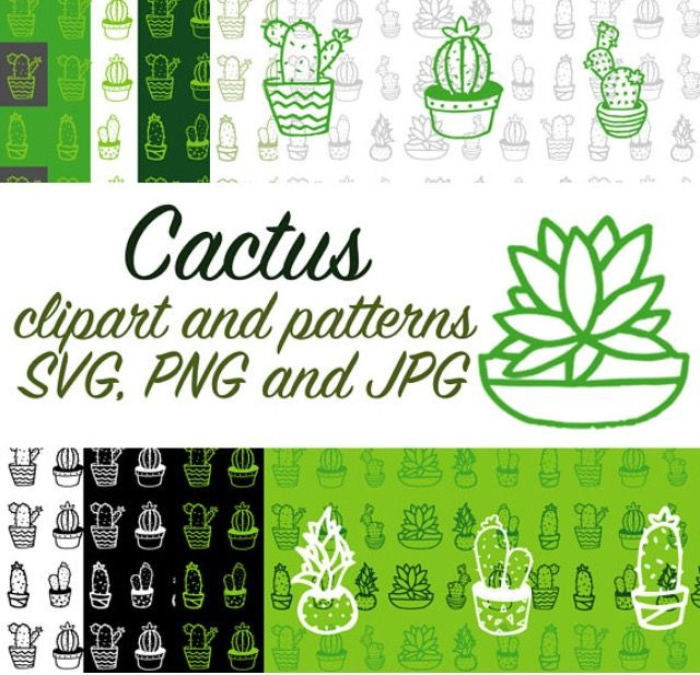 Cactus svg clipart, cactus paper, cactus image and patterns, cactus png transparent background, instant download www.addyctdesign.etsy.com