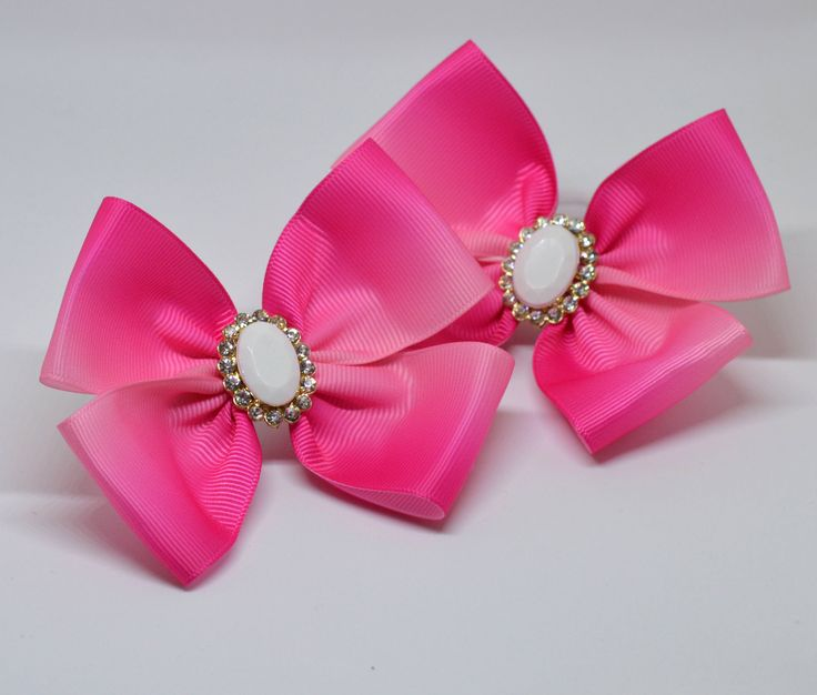 A personal favorite from my Etsy shop https://www.etsy.com/listing/557177116/pink-hair-bows-pink-hair-ties-pink-hair