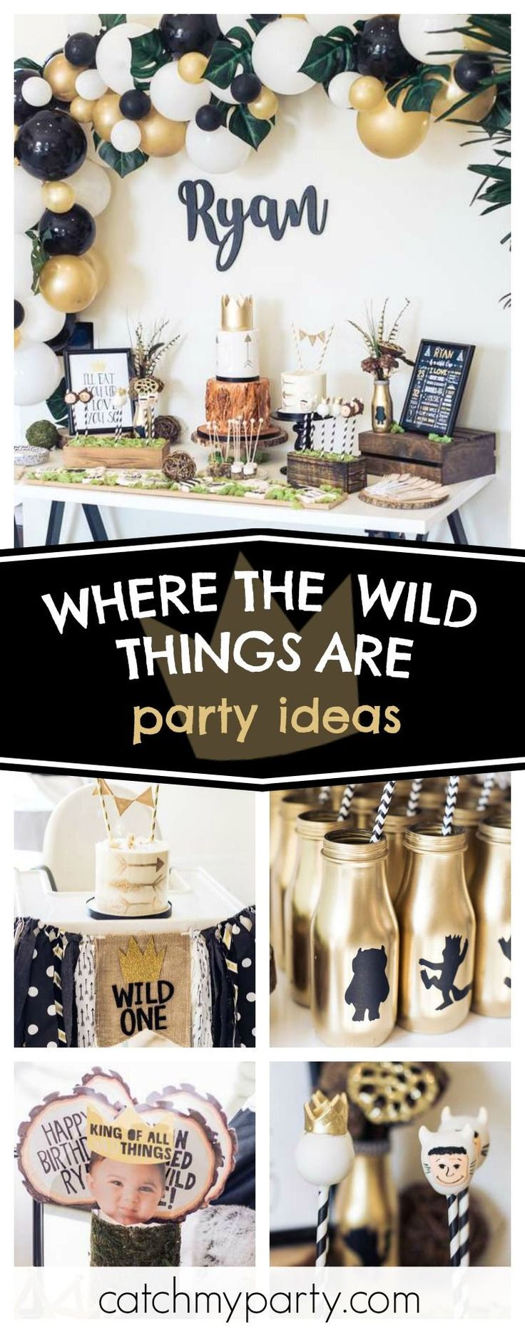 Check out this incredible Where the Wild Things Are Wild One birthday party! The Cake pops are awesome!! See more party ideas and share yours at CatchMyParty.com #catchmyparty #partyideas #wherethewildthingsarebirthdayparty #wildonebirthdayparty