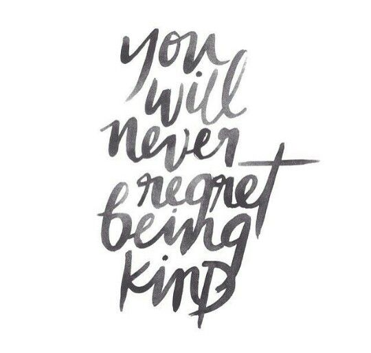 if u can be anything be kind