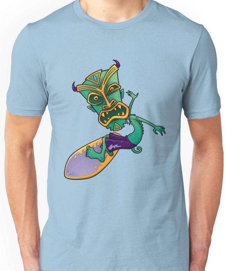 Tiki Surfer Dude Unisex T-Shirt