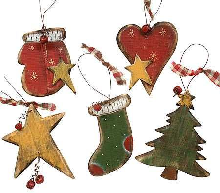 free primitive images to paint on wood | Primitive Wooden Christmas Holiday Ornament - Christmas and Holiday ...
