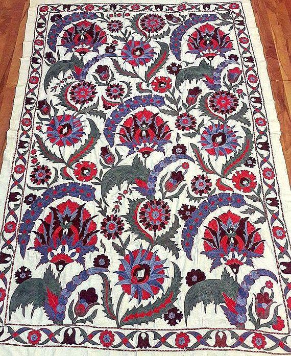 Handmade Suzani from BukharaUzbekistan.Tablecloth Wall