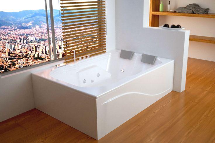 Este hermoso diseño de hidromasaje (jacuzzi®) es para dos personas y es ideal para baños en donde se requiera un mismo lugar para la ducha y la hidroterapia (ya que su diseño permite instalar una cabina encima). La Millenium plus incluye sistema de hidroterapia, cromoterapia, cascada, tele ducha, mezclador, 2 almohadas y un sistema autoportante-nivelante que integra dos faldones en fibra de vidrio. NOTA IMPORTANTE: Para el pedido correcto de la posición del faldón en L, ya sea IZQUIERDO O…