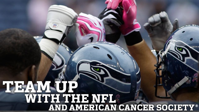 """October is the national breast cancer awareness month where the color pink is worn or used to support the fight. Every year, this one in particular, NFL teams across the country accessorize with pink gloves, cleats, helmets and even custom made jerseys to exhibit their support for a cure. """"A Crucial Catch"""" is the name of the campaign as the NFL partnered up with the American Cancer Society for proceeds of the products to go towards the cause. Chelsea H."""