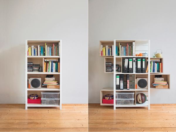 Excellent idea for a storage cabinet.  I wonder if this could be done with IKEA parts.